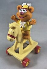 McDonalds Happy Meal Toys Muppet Babies 1986, Fozie On Yellow Horse M2
