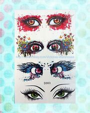 "3D eyes sexy temporary tattoo 6""X4"" waterproof tatoo women"