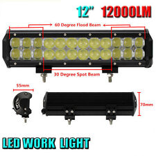 72W 12inch Combo LED Light Bar 4D 6500K Offroad Driving 4x4 Truck ATV Bumper SUV