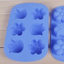 Tulip 3D Kids Chocolate Ice Tray Silicone Cake Pop Out Fondant Baking Mould
