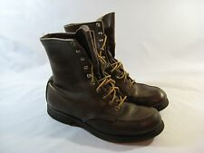Vtg. Red Wing Brown Lace-Up Boots Rubber Sole Women's 7.5 N