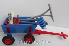 Playmobil Zoo/water park extras: Wagon, fish bucket & cleaning out tools NEW