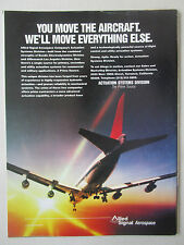 9/1991 PUB ALLIED SIGNAL AEROSPACE ACTUATION SYSTEMS AIRLINER ORIGINAL AD