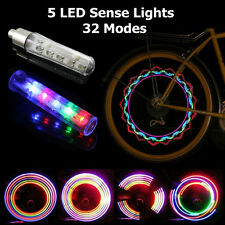 Led Flash Spoke Light Bike Bicycle Car Wheel Tire Valve Cap Neon Lamp 32 Changes