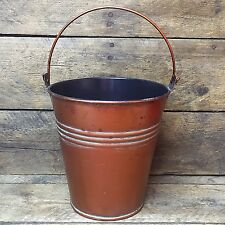 "Copper Tone Bucket with handle 5"" H"