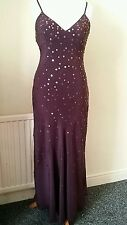 Phase eight ladies beaded sequinned party occasion maxi dress size 12