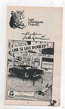 Supplément à Spirou n°2016. Ginger. Qui se fait rouler ? Jidéhem - 1976.
