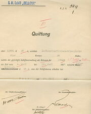 1918, Hungary Naval Document, S.M.Schiff BELLONA cancel