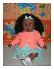 "Reborn 22"" Ethnic Biracial Infant Toddler doll Kiera Blue (Rare Retired)"