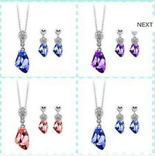 18K GP Earring & Pendant Set with Swarovski Crystal Elements