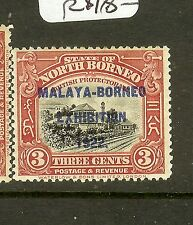 NORTH BORNEO (P0502BB) 3C TRAIN MBE SG256 MNH