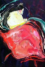 Original Acrylic Abstract Painting of Orient Dancer #2 Artist Signed