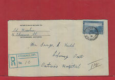 Kitchener, Ont 1940 Registered 13 cent Halifax Harbour single use Canada cover
