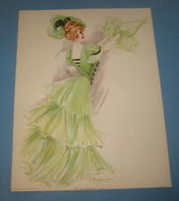 Old Vintage 1907 - Antique VICTORIAN PRINT - New York Show Girl - CASINO