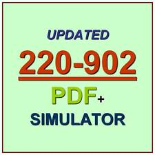 CompTIA A+ PLUS Certification Test 220-902 Exam QA PDF+Simulator