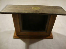 Vintage Shackman Doll House Dollhouse Furniture Wood Fireplace Brown Black Fire