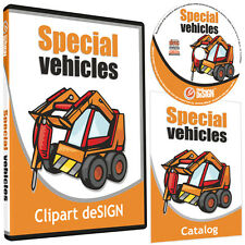 TRACTOR CLIPART-VINYL CUTTER PLOTTER IMAGES-EPS VECTOR CLIP ART GRAPHICS CD