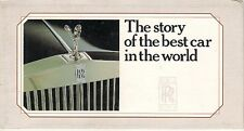Rolls-Royce Bentley 1903-1985 Corporate History Foldout Brochure Ghost Cloud