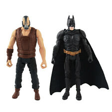 "Set of 2pcs The Dark Knight Rises ARKHAM CITY Batman Bane 10cm/4"" Action Figure"