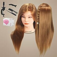 Long Hair Cosmetology Mannequin Manikin Training Head Model with Clamp