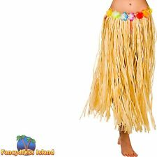 HAWAII HULA GRASS SKIRT 80cm NATURAL One Size FAST POST Womens Fancy Dress