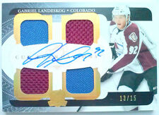 ROOKIE YEAR! 1x /15 GABRIEL LANDESKOG THE CUP QUAD JERSEY AUTO UD 2011 11 12