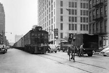 New York Central Steam City Meat Freight Street Train Vintage photo 1940