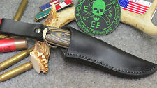 ESEE IZULA II CUSTOM LEATHER DANGLER KNIFE SHEATH BY CHARLIE CLINE