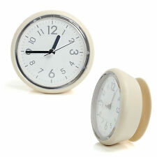 Ivory Waterproof Bathroom Suction Clock Shower Clock Kitchen Clock Wall Clock