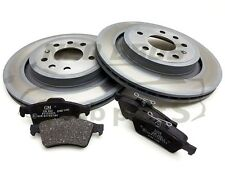 SAAB 9-3 03-12, GENUINE REAR BRAKE PADS & VENTED DISCS KIT, 292MM, 93186301
