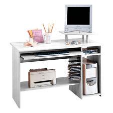 Scrivania porta PC ufficio cassetto 117x52xh85cm bianco frassinato 41.42.62BF
