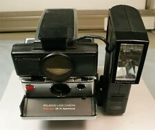 Polaroid Time-Zero SX-70 Auto Focus Land Camera with #2350 Flash & #2352 Bracket