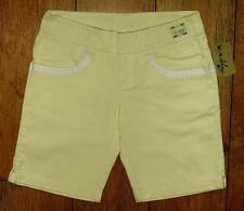 Bnwt Women's Authentic Oakley Spring Shorts UK10 Bleached Yellow New