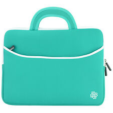 """15"""" Universal Laptop Sleeve Carrying Case Cover Bag with Handle (Teal) Blemish"""