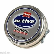 Punch activa Dubbin neutral 50ml Tin impermeabiliza Cuero Zapatos Y Botas De Cera