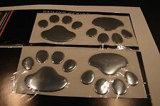 3D ANIMAL PAWS CAR STICKER EMBLEM  LOGO DOG OR BEAR  USA SELLER..ANIMAL LOVE