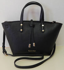Calvin Klein Black Convertible Satchel Crossbody Shoulder Bag Handbag Purse NWT