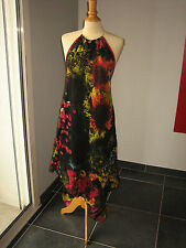 ELEGANTE ROBE DRESS LONGUE IMPRIMé FLORAL SAVE THE QUEEN T M 38 40  UK 10 12