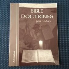 Abeka Bible Doctrines for Today Test/Quiz Key Second Edition Home School 10 HS