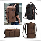 Men's Vintage Canvas Rucksack backpack laptop shoulder travel Hiking Camping bag