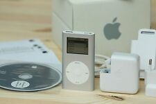 APPLE IPOD MINI 1ST GENERATION SILVER 4GB + ORIGINAL CAJA + ACCESORIOS COLLECTOR