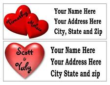 30  PERSONALIZED HEARTS VALENTINE RETURN ADDRESS LABELS MANY CHOICES