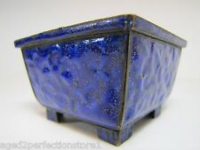 Old Bronze Enamel Small Footed Planter Pot China sides feet enameled little dtld