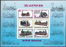 KOREA Pn. 1983 MNH** SC#2310a/d Sheet,  Steam Locomotives. Imp.