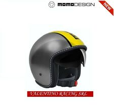 CASCO NEW MOMO DESIGN BLADE GLOS METAL YELLOW TG. XL CON VISIERA PARASOLE