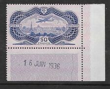 "FRANCE 1936 50fr ultra/rose Air superb ""coin date"" Mint never hinged SG 541"