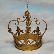 Large Decorative Antiqued Gold Iron Crown - 30 x 20 x 20 cm - NEW!