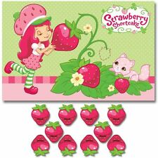 STRAWBERRY SHORTCAKE Dolls PARTY GAME POSTER ~ Birthday Supplies Decorations