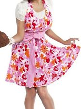 Flirty Aprons Women's Lindy Pink Floral Apron, Grandway Designer Fabric Apron
