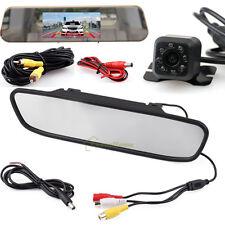 """4.3"""" TFT LCD Car Monitor Mirror Rear View Reverse Backup HD Camera Night Vision"""